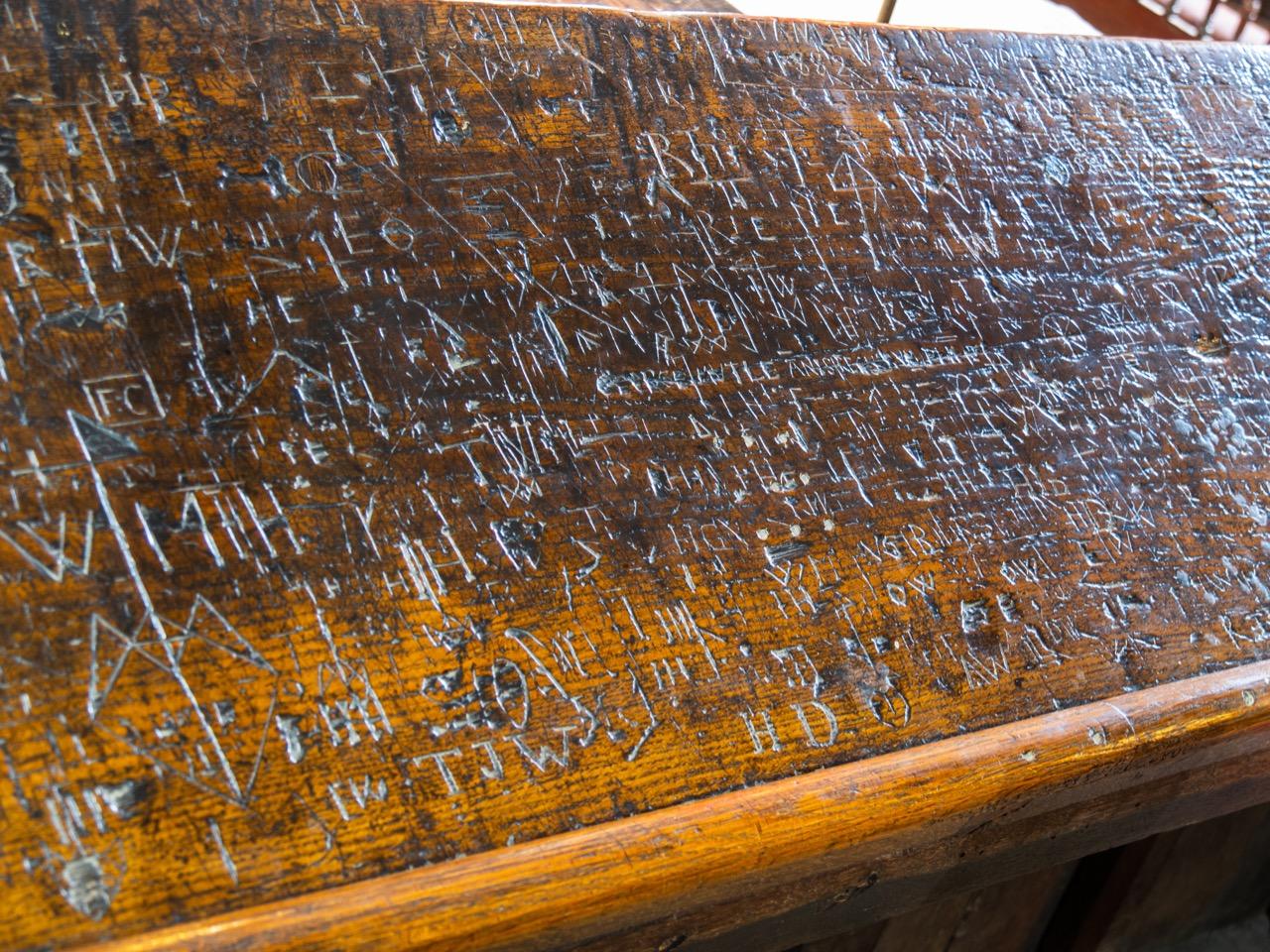 Choir stalls (15th cent.), ancient graffiti