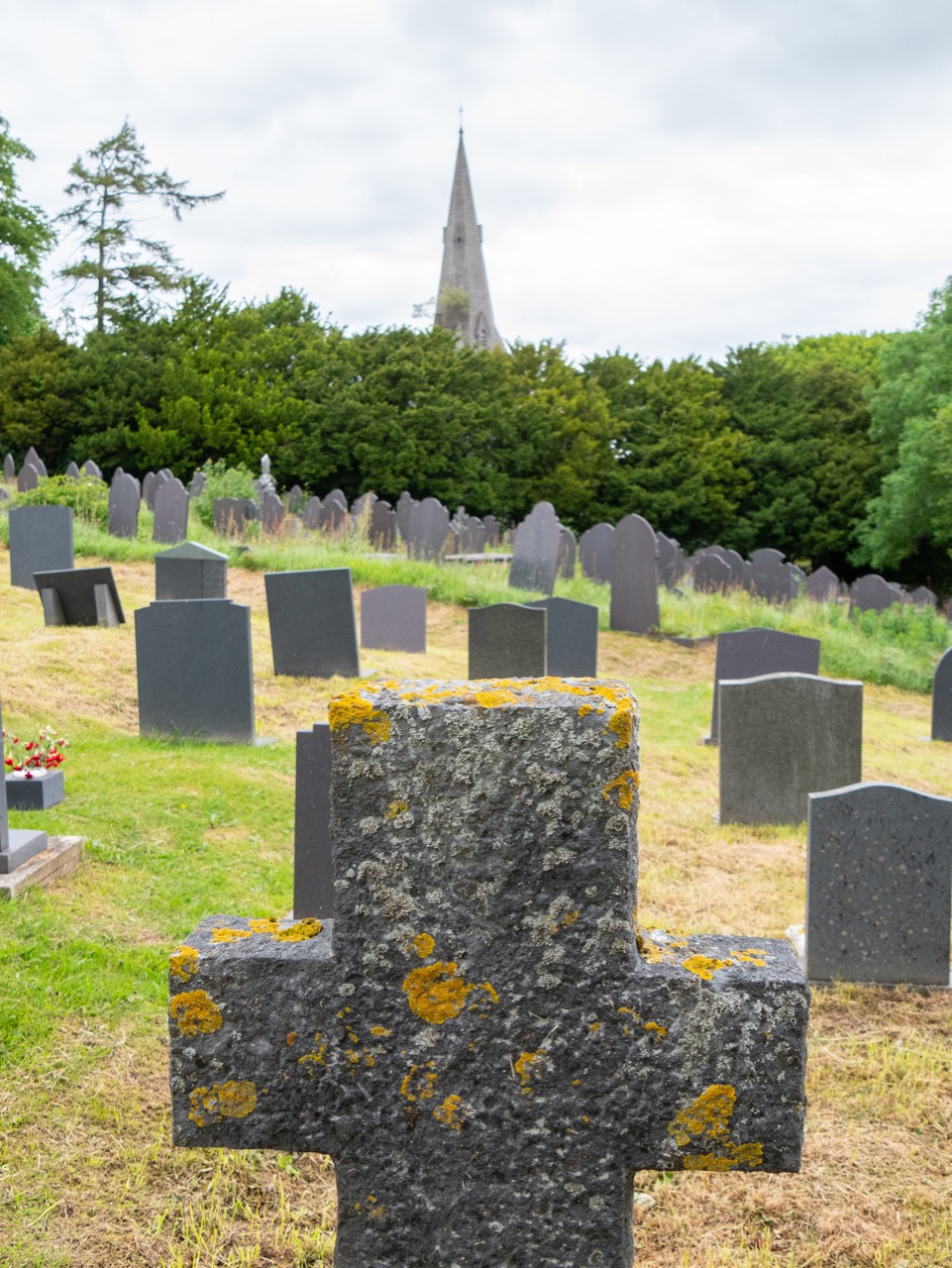 View from the graveyard towards north east