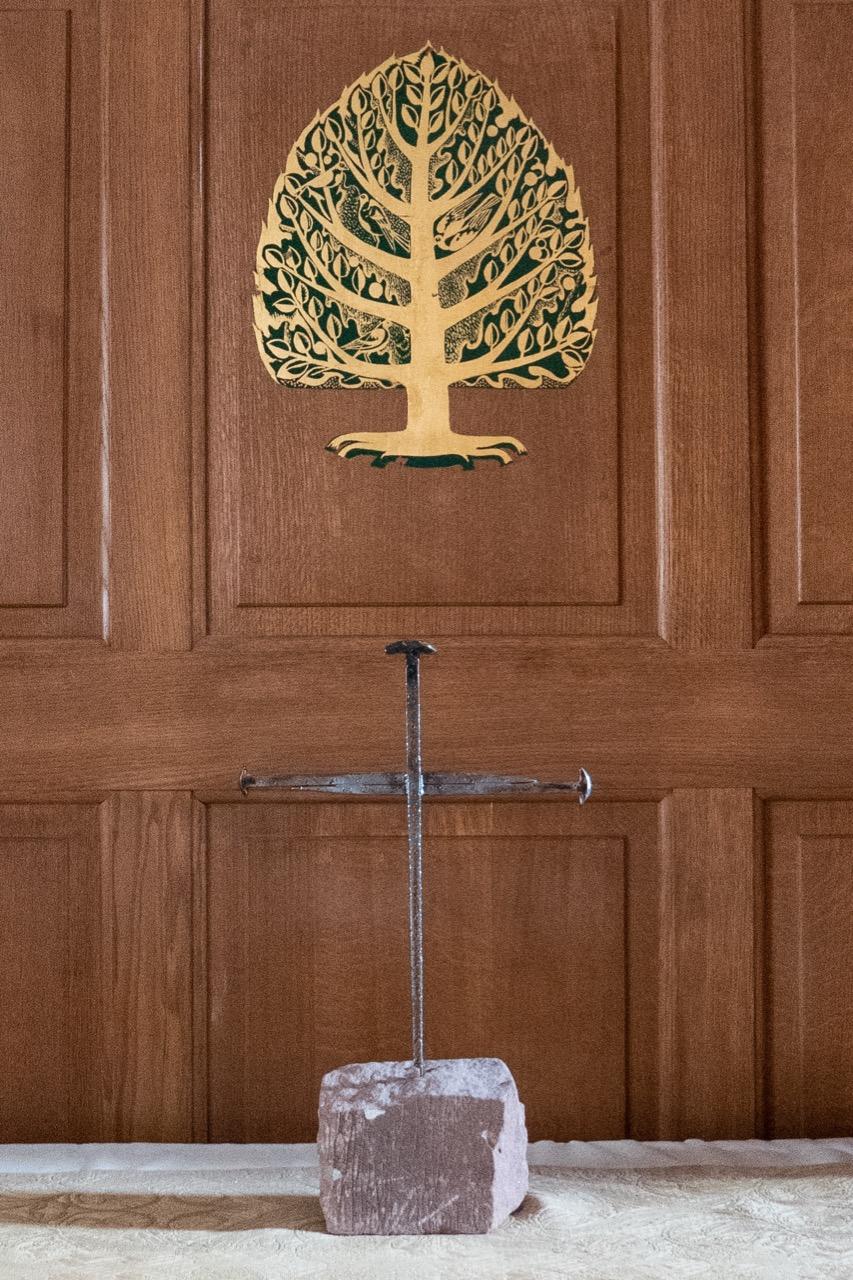 """Nagelkreuz in der St.-Alfege-Kapelle (""""Kapelle der Kinder"""")"""