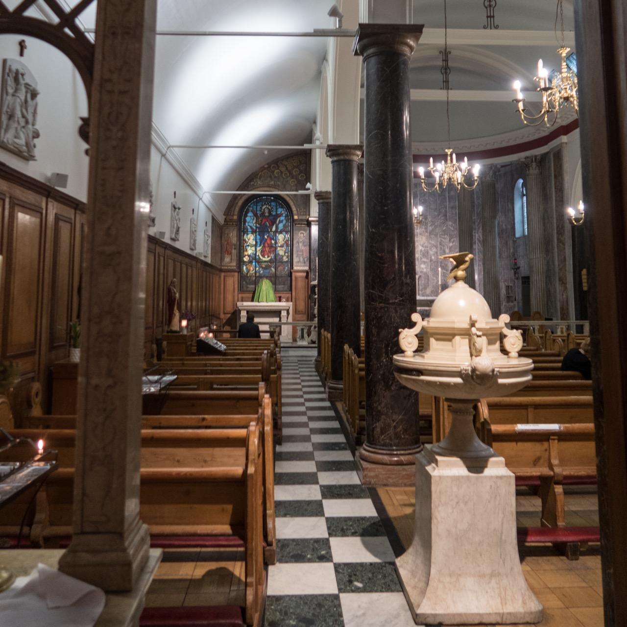 St Mary Moorfields, Innenansicht (westl. Seitenschiff)