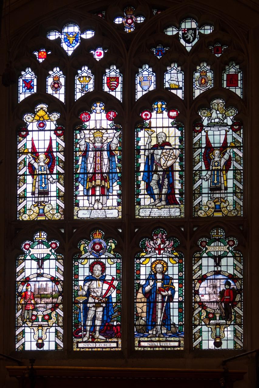 Stained glass window side chapel
