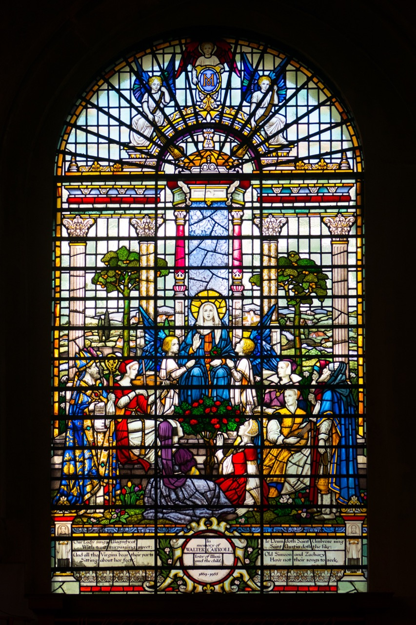 Altar window in the Musicians' Chapel