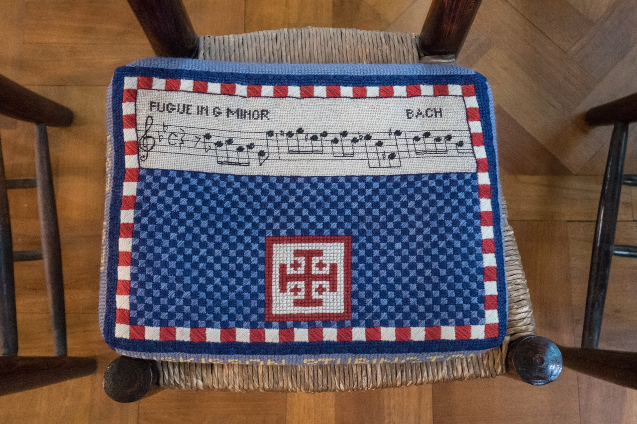 Church kneeler in the Musicians' Chapel