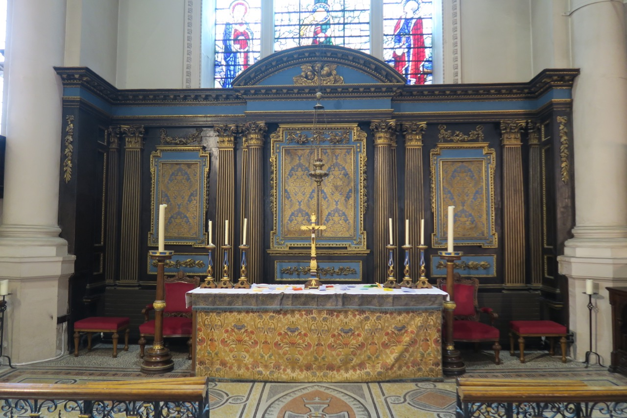 Chancel with sedilia