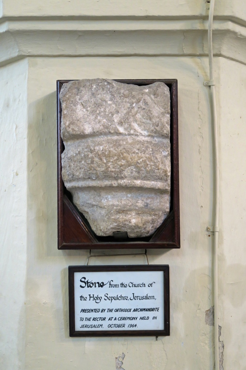 Stone from the Church of the Holy Sepulchre, Jerusalem