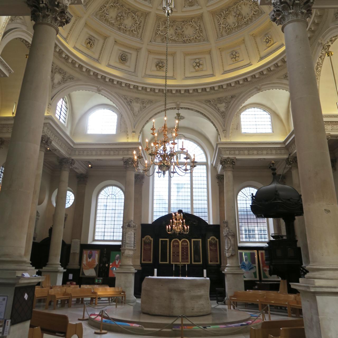 St Stephen Walbrook, Innenansicht