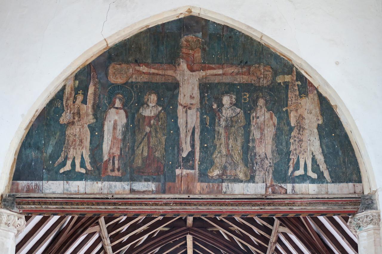 Chorbogen, Kreuzigung (Mitte 16. Jh.)