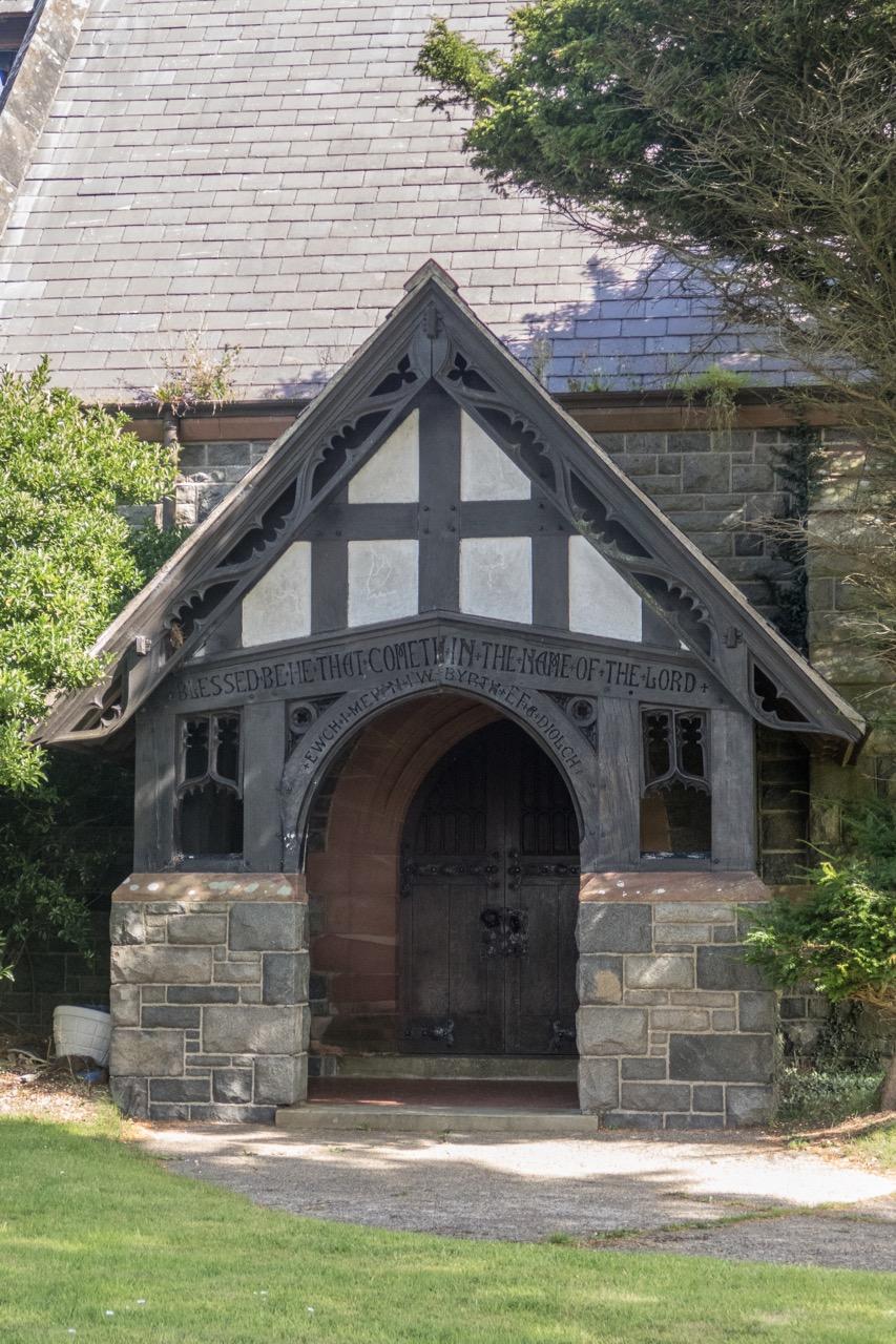 Vorhalle mit Inschrift aus Psalm 118,26