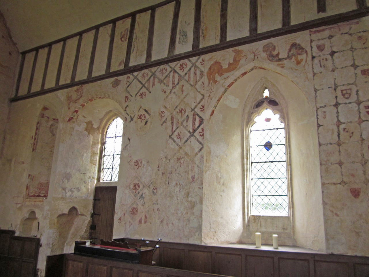 Wall frescoes (13th cent.)