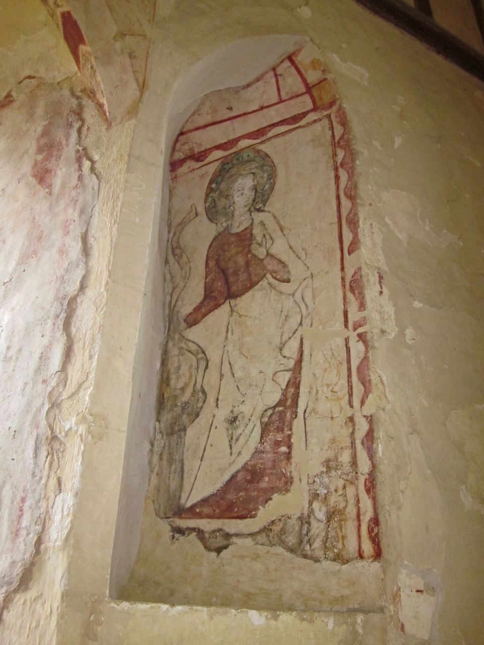 Wall frescoes, St Catherine (13th cent.)
