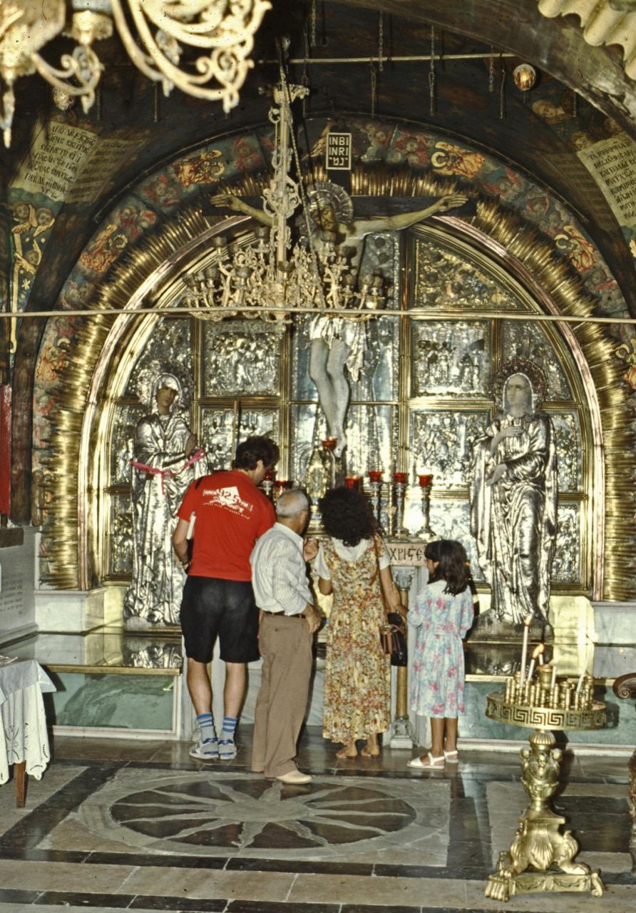 Kreuzigungsaltar auf dem Golgotahügel (griech.-orth.)